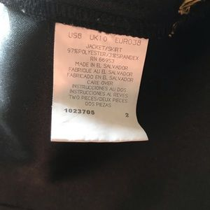 Leslie Fay Jackets & Coats - Vintage Leslie Fay Black Suede Skirt Suit